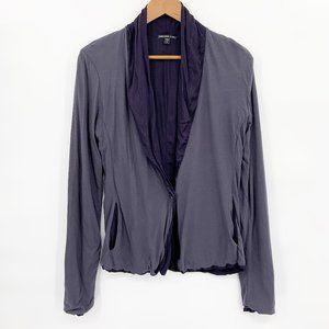 James Perse Drape Blazer Cardigan Jersey Knit Sz L